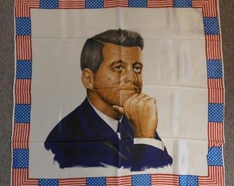 Original John F. Kennedy Commemorative Scarf By Maruzzella