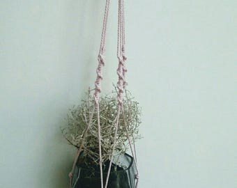 Pink color trend macrame wall hanging