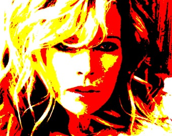 Kim Basinger - Modern Painting artwork hand-painted ( three size available )