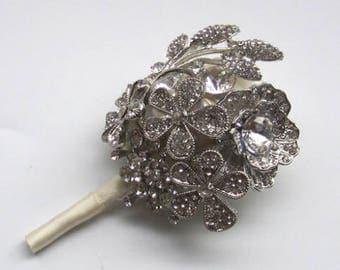groomsmen brooch Boutonniere, groom flower pin, brooch corsage