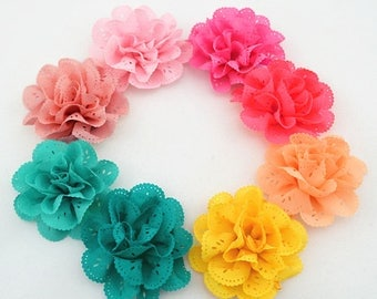 2 Eyelet Flower Baby Girl Flower Hair Clips Brooches