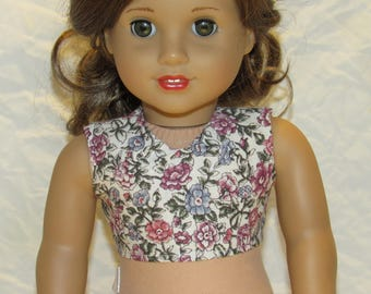 Floral Crop Top for 18 inch dolls