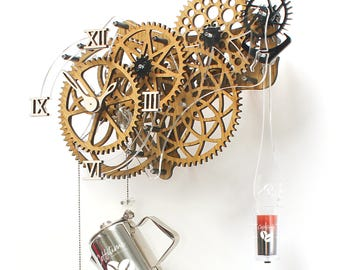Coffitime Light, funki wall art clock themed for coffee lovers