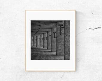 Black and White Print, Minimalist Print, A3 Print, Architecture Print, Black and White Art, ISO Print, Minimalist Poster, Digital Prints