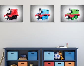 Discount Set Of 3 Thomas And Friends Wall Prints Thomas The Train Boys Room