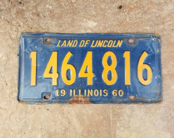 Old Illinois Licence Plate - 1960