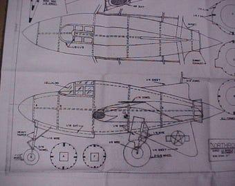 Northrop XP-56 Flying Wing Model Airplane Plan