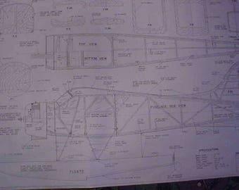 DeHavilland Beaver on Floats Model Airplane Plan 70 Inch Wing Span