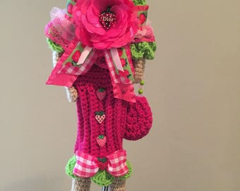 Crochet golf club head cover, crochet golf, club cutie