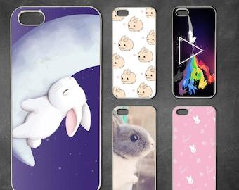 Cute Rabbit iphone 7 case, iphone 7 plus case, iphone 6/6s , iphone 6s  case, iphone 6 plus case, iphone 5/5s case, 5c case, 4/4s case