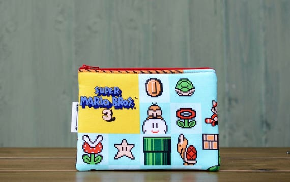 Super Mario 3 zipped pouch