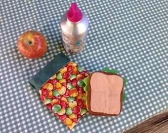 Apples Sandwich Bag--Plastic free