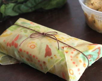 Bees Wax Food Wrap | Sustainable Plastic Free | Lunch Wrap | Food Storage