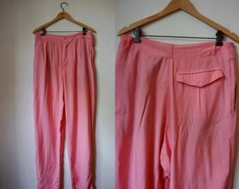Bubblegum Pink Highwaisted Vintage Trousers