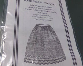 Victorian Civil War 19 Century Petticoat KNIT PATTERN adapted from original New