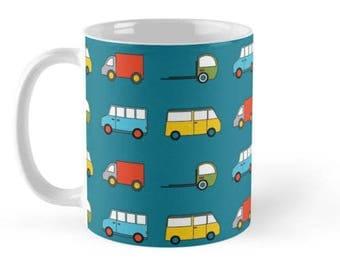 Cars mug, Mugs, Cars, New Job Gift, Housewarming Gift, Transport, Car Gift, Car lover gift, Boys gift, Vans, Trucks, boys decor, kids mugs