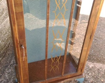 C1950's shabby chic glass cabinet
