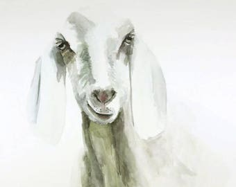 ORIGINAL watercolor painting, Sheep portrait watercolor, Lamb portrait, Lamb watercolor, Sheep watercolor, Baby nursery room, wall art