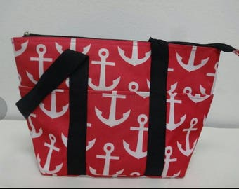 Insulated Color Anchor Lunch Tote