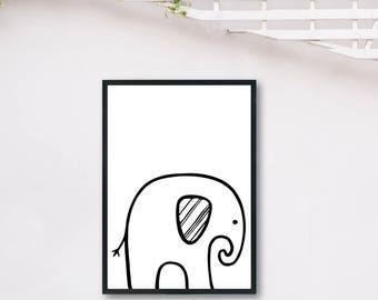 Elephant Light DIGITAL PRINT