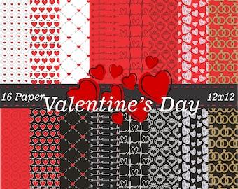 Kit Digital Valentine Day's Digital Paper