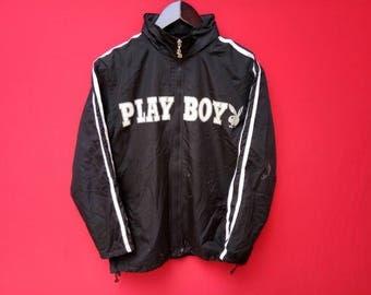 vintage playboy windbreaker big logo fully zipper large size