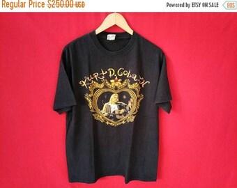 vintage nirvana kurt cobain grunge band large mens t shirt