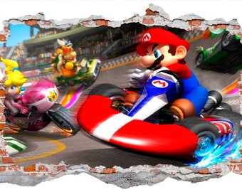 Mario Kart Wall Sticker, Wall Decals