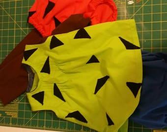 Pebbles and Bam Bam Flintstone inspired costume/ cosplay