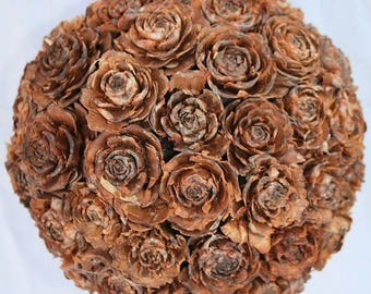 "6"" Pine Cone Rose Ball | Pine Cones | Pine Cone Decorations | Roses | Home Decor | Dried Decor"