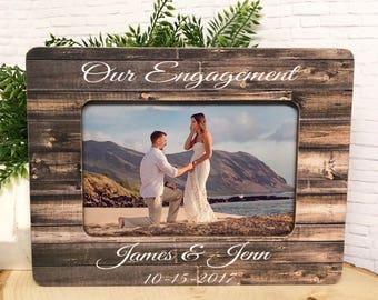 Engagement Frame  Engagement Gift    Wedding Frame  Fiancé Frame  Engaged Frame  Engagement  5x7 Picture Frame  4x6 Picture Frame