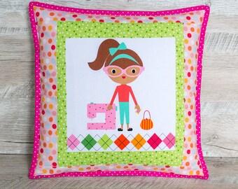 Girl birthday gift Girl room decor Green pillow covers Girl nursery decor Sister gift Throw pillow cases Toss pillows for girl Kids cushion