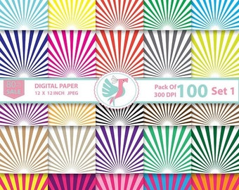 ON SALE 100 Superhero Comic Book Back Digital Paper, Comic Strip, Circus Background Scrapbooking Supply Printable Pattern, Commercial Use