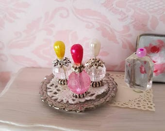 Dollhouse Miniatures,Miniatures for dollhouse,Dollhouse Accessories, Perfume Bottles,Vintage Perfume Bottle,Shabby Chic,1:12th Scale
