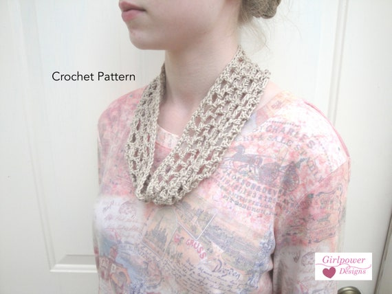 Quick Crochet Cowl Scarf Crochet Pattern Beginner Project Fast