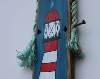 Acrylic lighthouse wall art.  All materials Recycle. Wooden pallet