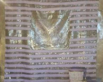 pink and gold shower curtain. Personalized  monogrammed pink and gold striped glitter shower curtain Pink Etsy