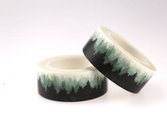 Misty Forest Washi Tape/Striped Washi / Masking tape/ japanese washi tape/Planner Supplies