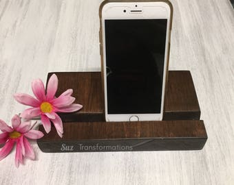 Wood Grain Knot Phone Stand Iphone Ipad Tablet Cellphone Cell Smartphone Decorative Docking Charging Station Accessories