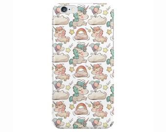 Unicorn Rainbow Cute White Phone Case Cover for Apple iPhone 5 6 6s 7 8 Plus & Samsung Galaxy S6 S7 S8 Plus