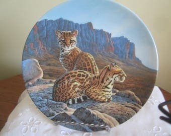"Knowles Collector Plate Great Cats of  the Americas Series ""The Ocelot"""
