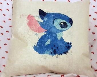 disney stitch character  blue colourful cushion cover 45 by 45 cm Cover Pillow Case Decor Gifts