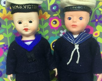 Vintage Dolls, Set of Two, Celluloid Doll