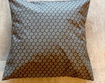 40cm Cushion cover taupe side printed