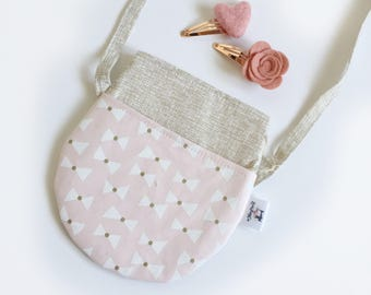 Gold Pink Bows Toodler purse