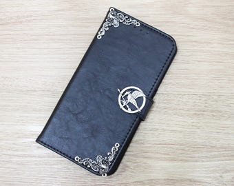 The Hunger Games Mockingjay Bird Wallet PU Leather Handmade Stand Case Cover For Apple iPhone 6 / 6S / 6 Plus / 6S Plus / 7 / 7 Plus