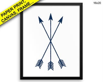 Arrows Printed Poster Arrows Framed Arrows Living Room Art Arrows Living Room Print Arrows Canvas Arrows tribal arrows navy blue Decor