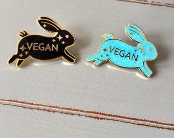 Vegan Rabbit Hard Enamel Pin