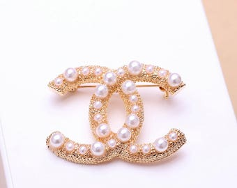 Chanel inspired faux Pearl Brooch