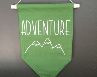 Adventure wall banner